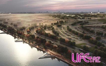 Новый Баку: Парк вокруг большого озера