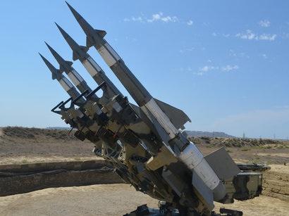 В ходе учений ВВС Азербайджана были использованы зенитно-ракетные комплексы ...