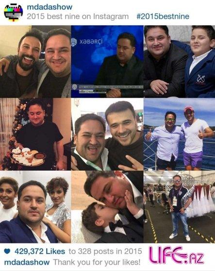 TOP-10: Лучшие фотографии азербайджанских звезд в Instagram в 2015 по количеству like