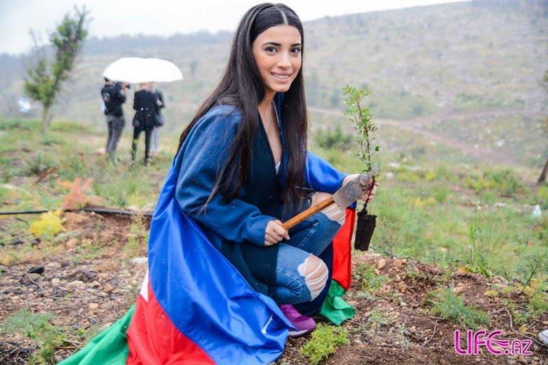 Семра Рагимли посадила дерево в Израиле