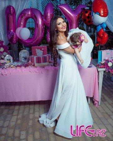 Гюнель Гумбатова отметила первую годовщину рождения дочери