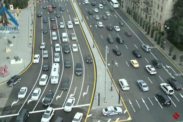 Центральная улица Баку после ремонта