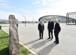 """Президент ознакомился с первой в мире промышленной скважиной на месторождении """"Бибиэйбат"""" после реконструкции"""