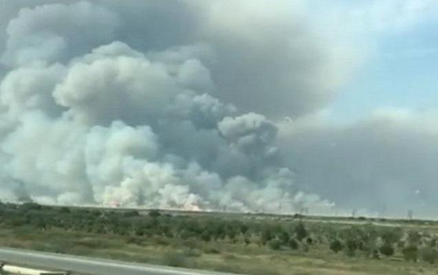 В Азербайджане на оружейном складе произошел пожар: В связи пожаром ограниченно движение на трасса Баку-Губа [Фото][Видео]