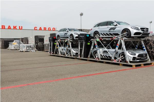 В Баку доставлены грузы для проведения Гран-При Азербайджана «Формулы-1»