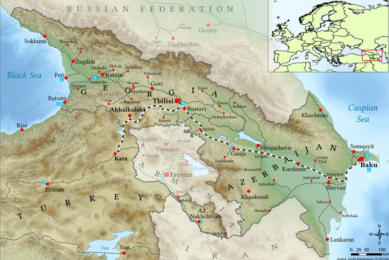 Проект железной дороги Карс-Игдыр-Нахчыван находится на стадии разработки