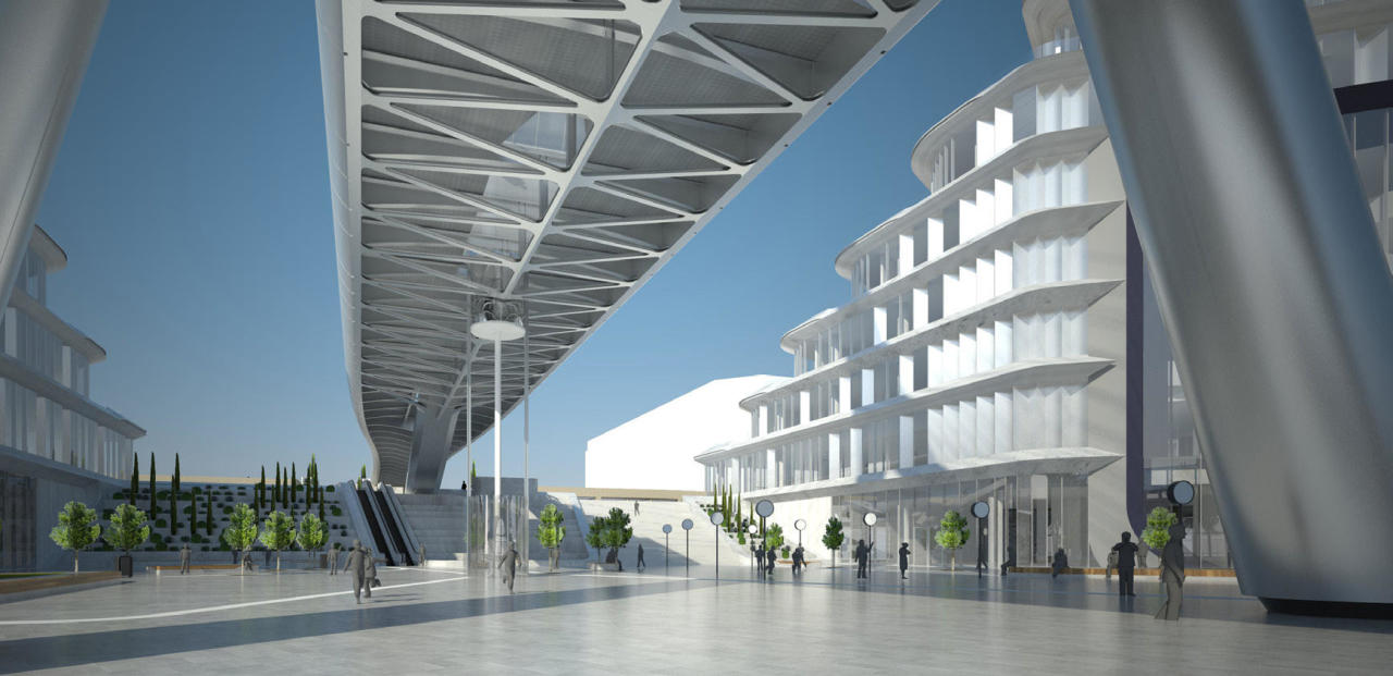 Завершается проектирование пешеходного моста связывающего Baku White City с бульваром
