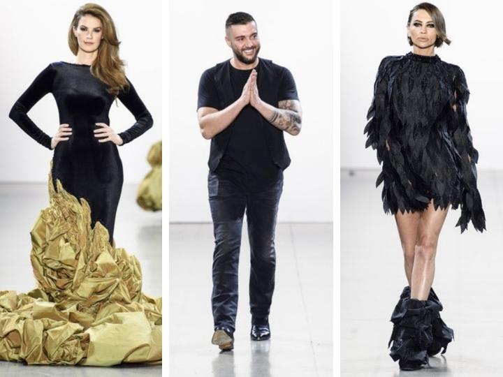 Азербайджанский дизайнер представил коллекцию «Эффект бабочки» на подиуме Н ...