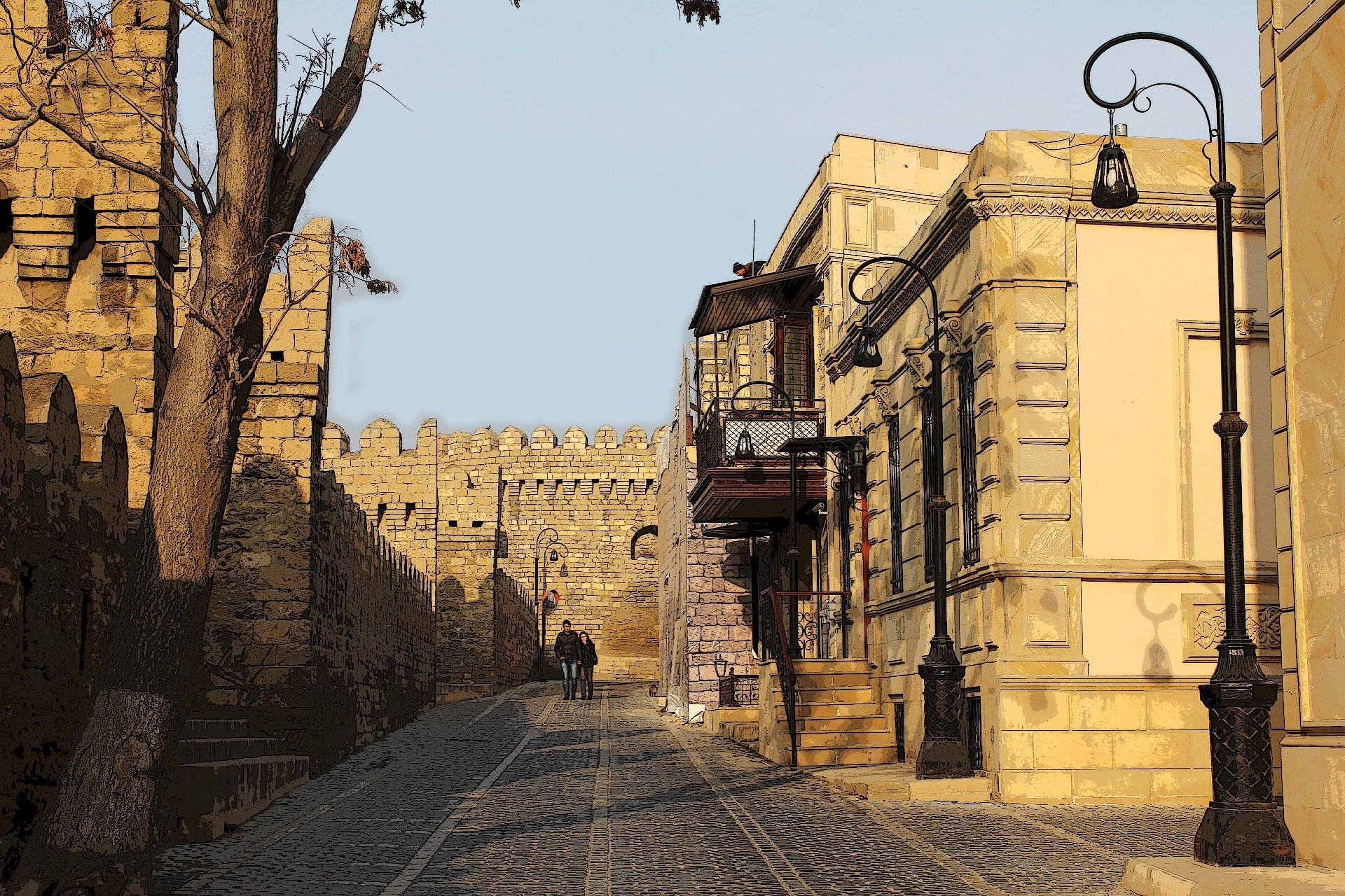 До конца года завершится реставрация двух аварийных зданий на улице Беюк Гала