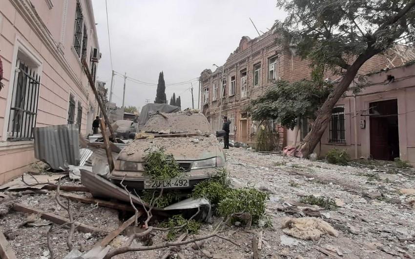 Город Гянджа обстреливается с территории Армении