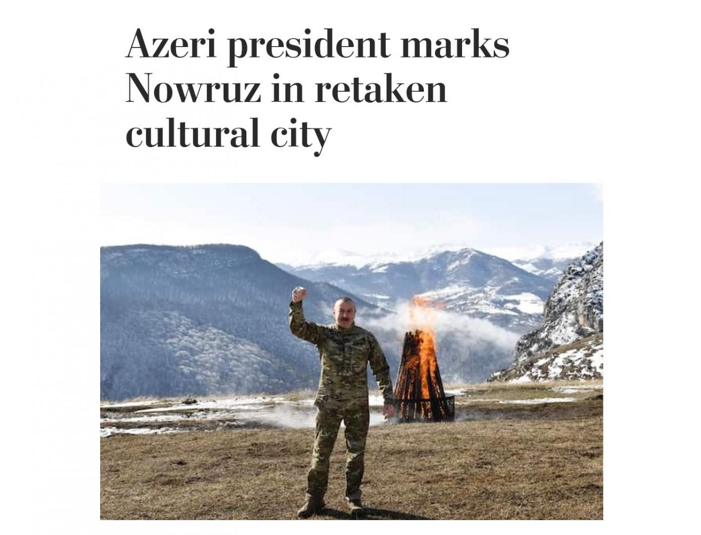 The Washington Post: Президент Азербайджана празднует Новруз в освобожденной культурной столице